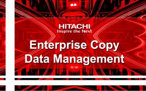Enterprise Copy Data Management