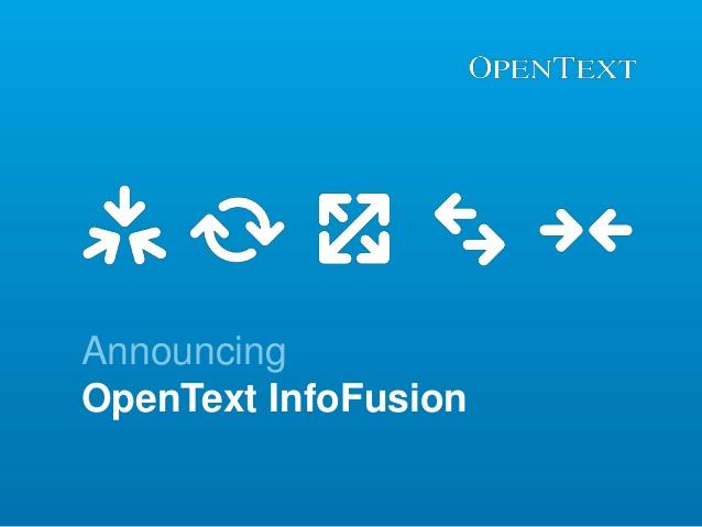 OpenText's InfoFusion