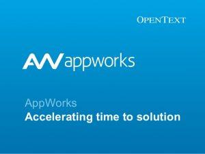 OpenText AppWorks Platform