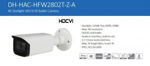 4K Starlight HDCVI IR Bullet Camera