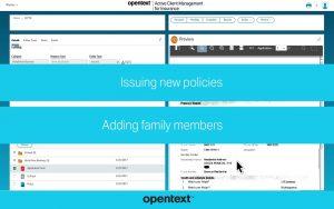 OpenText Active Client Management for Insurance
